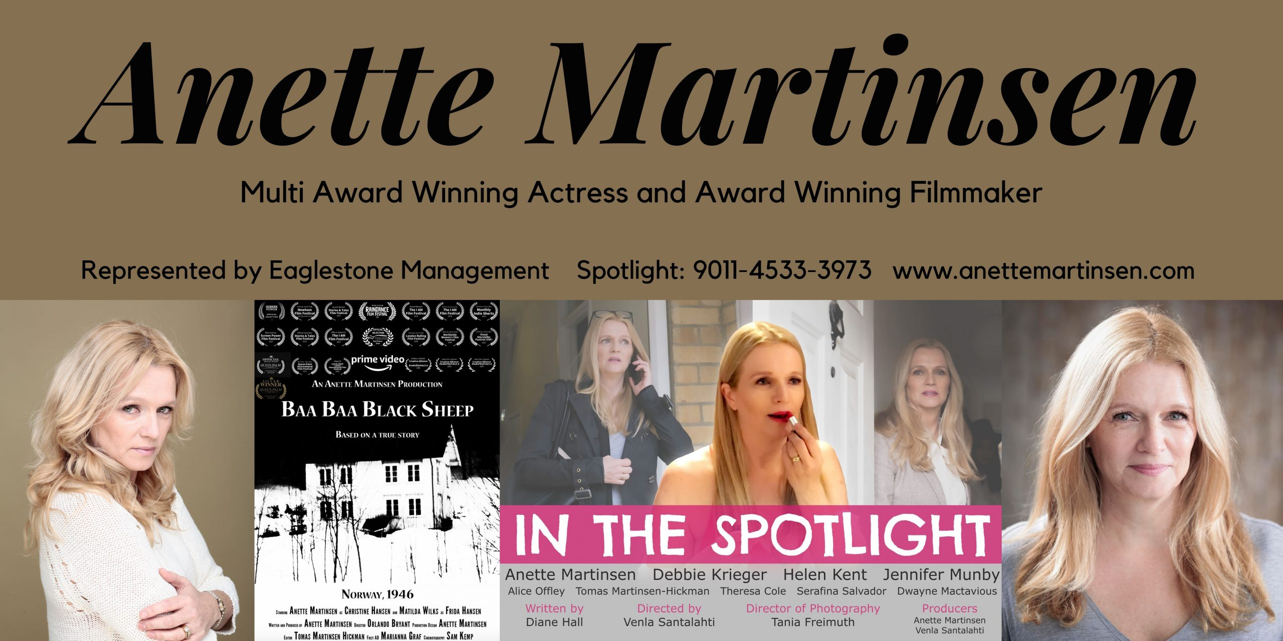 Multi Award Winning Actress and Filmmaker